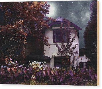 Autumn Night In The Country Wood Print