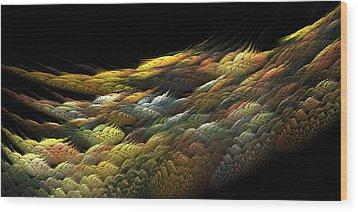 Wood Print featuring the digital art Autumn Nightfall by Richard Ortolano