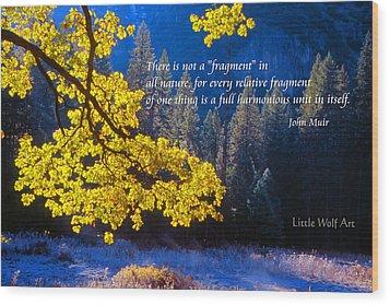 Autumn Oak Yosemite Poster Art Wood Print