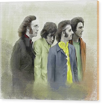 Autumn Of 68 The Beatles Wood Print by Iconic Images Art Gallery David Pucciarelli