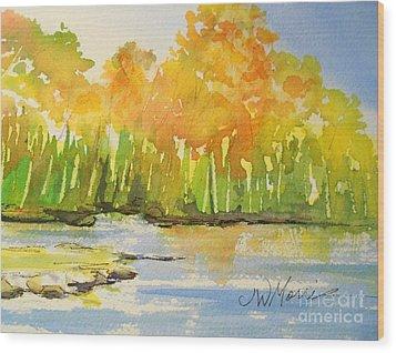 Autumn On Lake Lanier Wood Print