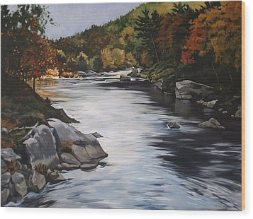 Autumn On The Allegheny Wood Print