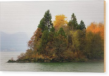 Wood Print featuring the photograph Autumn On The Columbia by Albert Seger