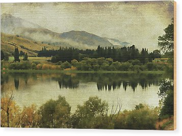 Autumn On The Lake Wood Print by Margaret Hormann Bfa
