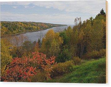 Autumn On The Penobscot Wood Print