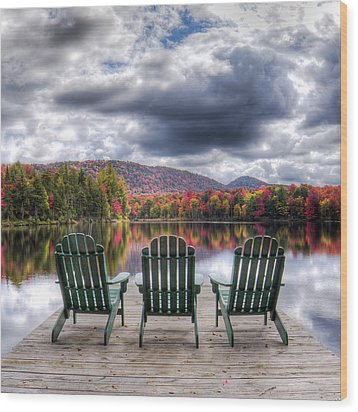 Wood Print featuring the photograph Autumn On West Lake by David Patterson