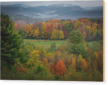 Autumn On Winslow Hill Wood Print