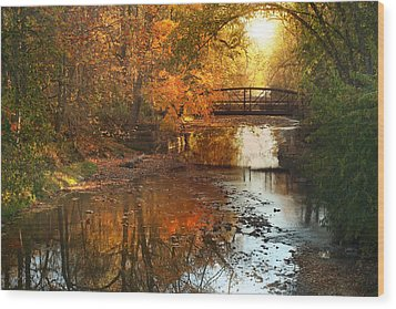 Autumn Over Furnace Run Wood Print