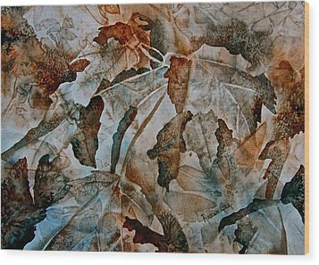 Autumn Patterns Wood Print by Carolyn Rosenberger