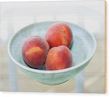 Autumn Peaches Wood Print by Marilyn Hunt