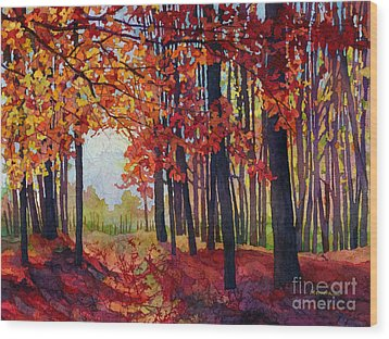 Wood Print featuring the painting Autumn Rapture by Hailey E Herrera