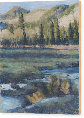 Autumn Reflections Wood Print by Billie Colson