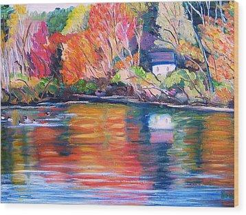Autumn Reflections Wood Print by Richard Nowak