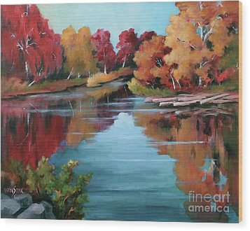 Autumn Reflexions 1 Wood Print