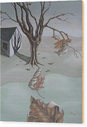 Autumn Remnants Wood Print
