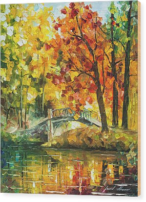 Autumn Rest   Wood Print by Leonid Afremov