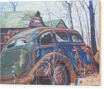 Autumn Retreat - Old Friend Vi Wood Print by Alicia Drakiotes