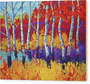 Autumn Riches Wood Print by Marion Rose