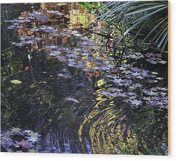 Wood Print featuring the photograph Autumn Ripples by Linda Geiger