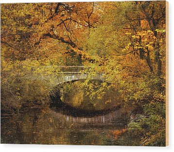 Autumn River Views Wood Print by Jessica Jenney