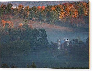 Autumn Scenic - West Rupert Vermont Wood Print by Thomas Schoeller
