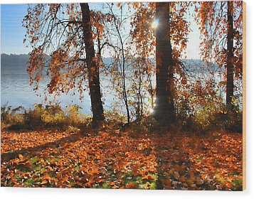 Autumn. Wood Print by Sergey and Svetlana Nassyrov
