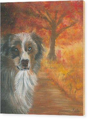 Autumn Shepherd Wood Print by Jessica Kale