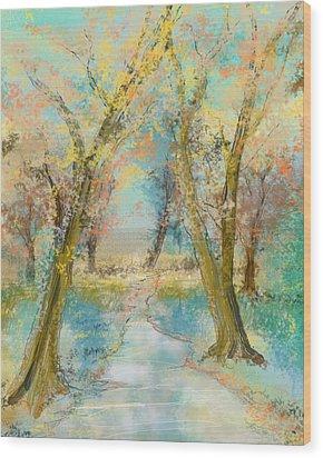 Autumn Sketch Wood Print