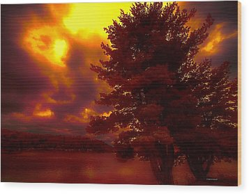 Autumn Skies L.junaluska Wood Print