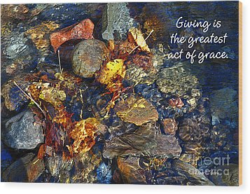 Wood Print featuring the drawing Autumn Splash Grace by Diane E Berry