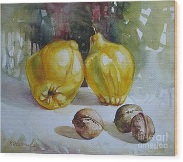 Wood Print featuring the painting Autumn Still Life 2 by Elena Oleniuc