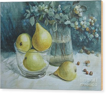 Wood Print featuring the painting Autumn Still Life 3 by Elena Oleniuc