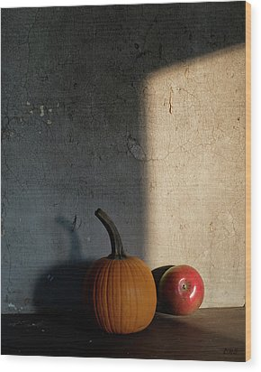 Wood Print featuring the photograph Autumn Still Life I Color by David Gordon