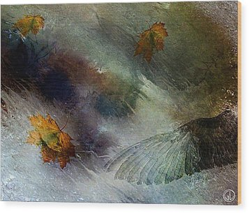 Autumn Storm Wood Print by Gun Legler