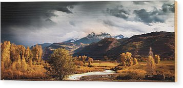Wood Print featuring the photograph Autumn Stream In Colorado by Andrew Soundarajan