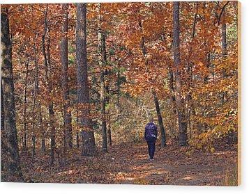Autumn Stroll Wood Print by Gayle Johnson