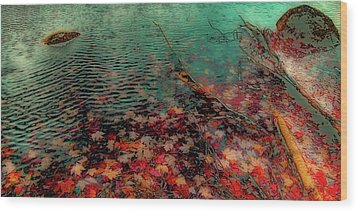 Wood Print featuring the photograph Autumn Submerged by David Patterson