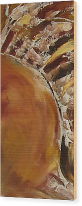 Wood Print featuring the painting Autumn Sun by Patricia Cleasby