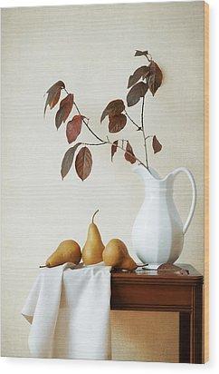 Autumn Tableau Wood Print