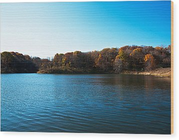 Autumn The In Loess Hills Wood Print by Edward Peterson