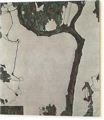 Autumn Tree Wood Print by Egon Schiele