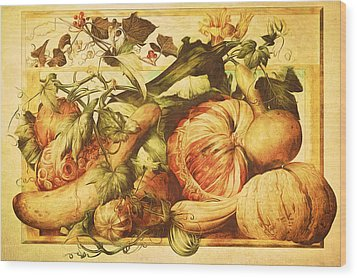 Wood Print featuring the digital art Autumn Vegetable Harvest  by Tracie Kaska