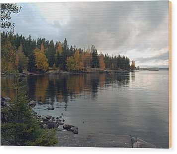 Wood Print featuring the photograph Autumn View 1 by Sami Tiainen