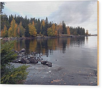 Wood Print featuring the photograph Autumn View 2 by Sami Tiainen