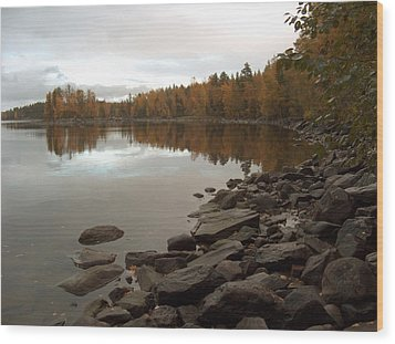 Wood Print featuring the photograph Autumn View 5 by Sami Tiainen