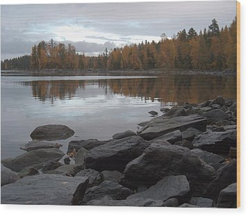Wood Print featuring the photograph Autumn View 6 by Sami Tiainen