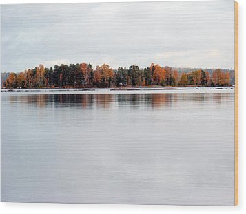 Wood Print featuring the photograph Autumn View 7 by Sami Tiainen
