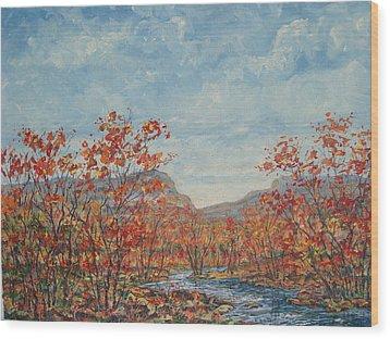 Autumn View. Wood Print