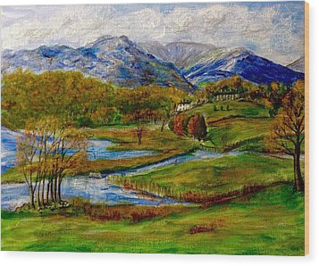 Autumn View Of The Trossachs Wood Print