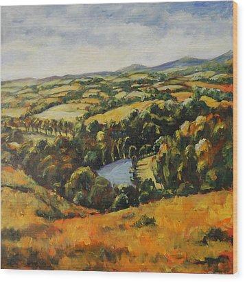 Autumn Vista Wood Print by Alexandra Maria Ethlyn Cheshire